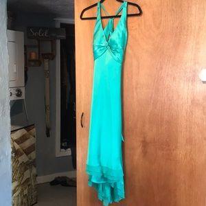 Cache silk flow dress open back